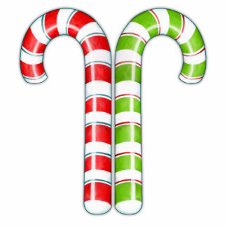 Candy Canes red green Sculpture Acrylic Cut Out