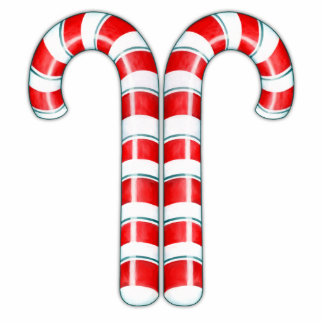 Candy Canes red Sculpture Cut Outs