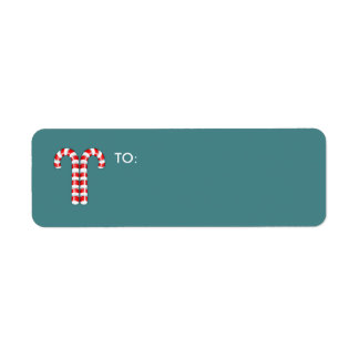 Candy Canes red small Gift Tag Return Address Label