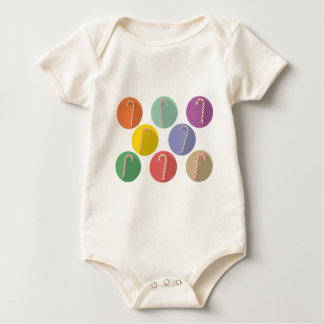 Candy Canes Set Baby Bodysuit