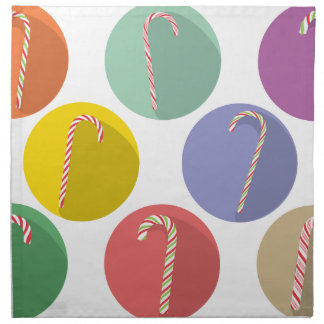 Candy Canes Set Napkin