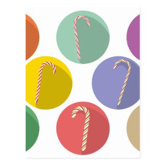Candy Canes Set Postcard
