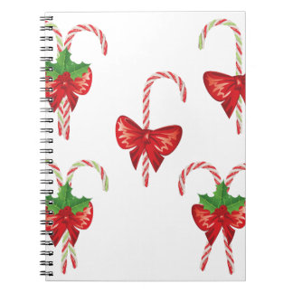 Candy Canes with Bow Set 2 Notebooks