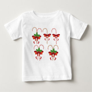 Candy Canes with Bow Set Baby T-Shirt