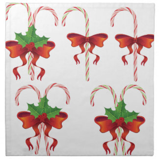 Candy Canes with Bow Set Napkin