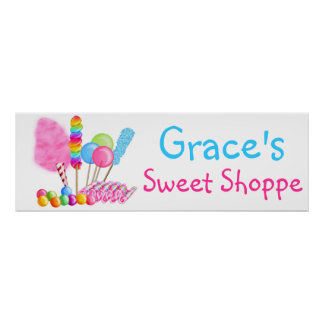 Candy Circus Sweet Shoppe Banner Poster