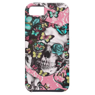 Candy coated girly butterfly rose skull. iPhone 5 covers