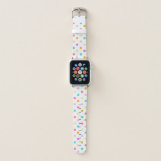 Candy Colored Polka Dots Pattern Apple Watch Band