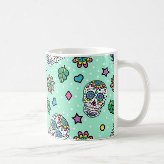 Candy Colourful Sugar Skull Coffee Mug
