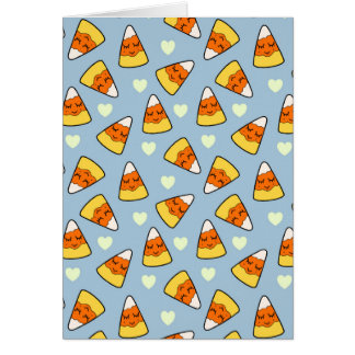 Candy Corn and Heart Pattern Card