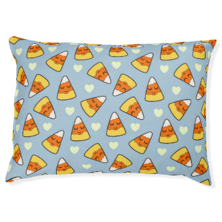 Candy Corn and Heart Pattern Pet Bed