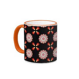 Candy Corn and Peppermint Pattern Hallowgivingmas Mug