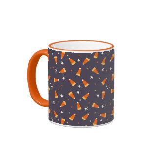 Candy corn and Stars Halloween Mug
