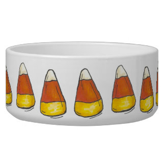Candy Corn Candies Halloween Thanksgiving Pet Bowl