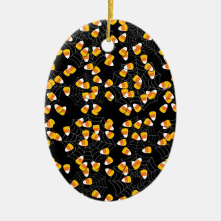 Candy Corn Ceramic Ornament
