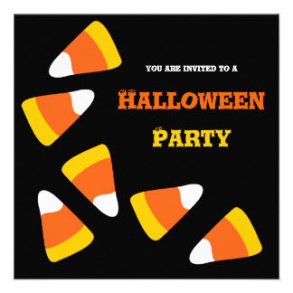 Candy Corn Craze Halloween Party Invitation