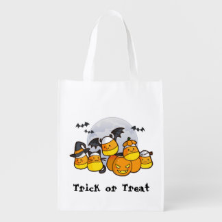 Candy Corn Critters Reusable Grocery Bag