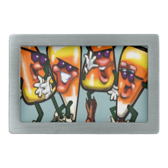 Candy Corn Gang Rectangular Belt Buckle