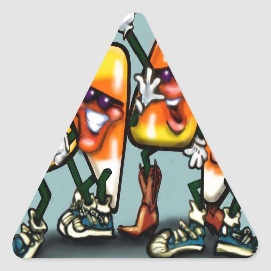 Candy Corn Gang Triangle Sticker