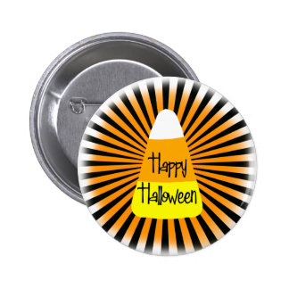 Candy Corn Greetings Button
