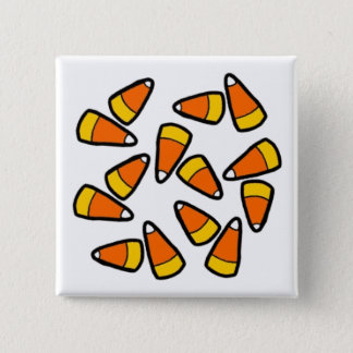 Candy Corn Halloween Button
