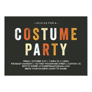 Candy Corn Halloween Costume Party Invitation