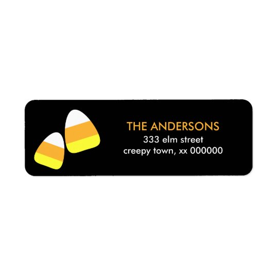 Candy Corn Halloween Labels