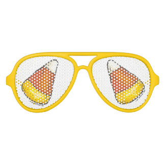 Candy Corn Halloween Thanksgiving Trick or Treat Aviator Sunglasses