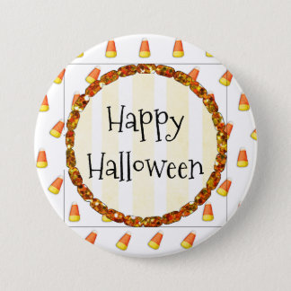 Candy Corn Happy Halloween Button