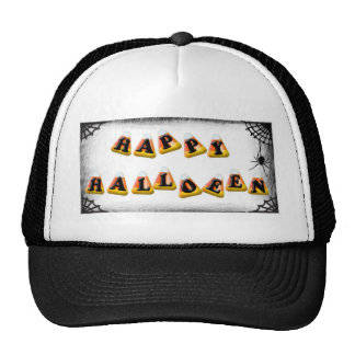 Candy Corn Happy Halloween Cap