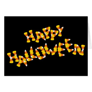 candy corn happy halloween card