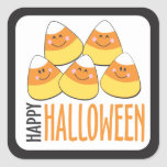 Candy Corn Happy Halloween Stickers