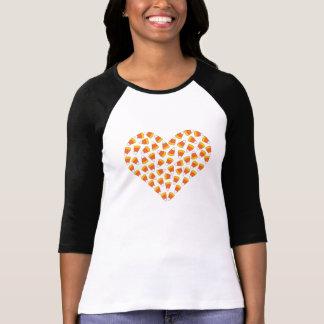 Candy Corn Heart T-Shirt