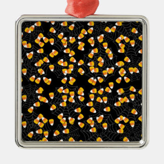 Candy Corn Metal Ornament