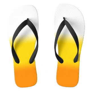 Candy Corn Ombre Halloween Thongs