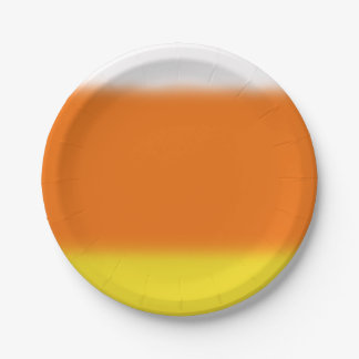 Candy Corn Ombre Paper Plate
