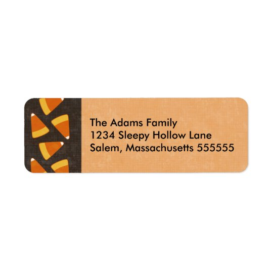 Candy Corn Personalised Halloween Address Labels