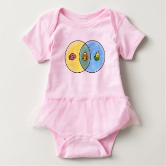 Candy Corn Venn Diagram Baby Bodysuit