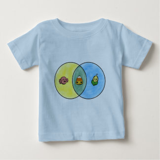 Candy Corn Venn Diagram Baby T-Shirt