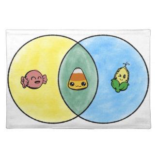 Candy Corn Venn Diagram Placemat