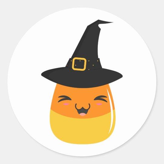 Candy Corn Witch Halloween Emoji Stickers