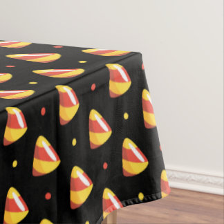 candy corns halloween candy pattern tablecloth