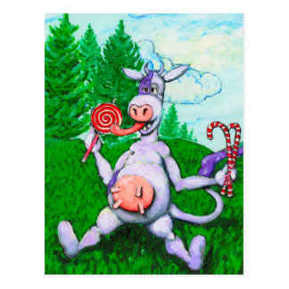 Candy Cow Postcard