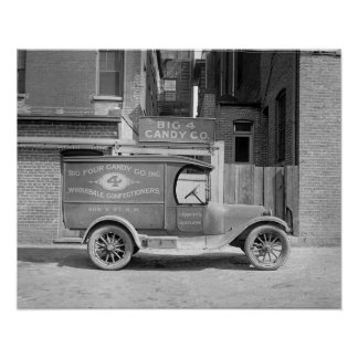 Candy Delivery Truck, 1926 Poster