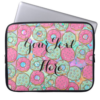 Candy Donut Prinkles - Template For your Text Laptop Sleeve