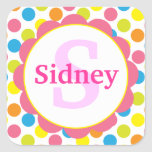 Candy Dots Personalised Monogram Sticker