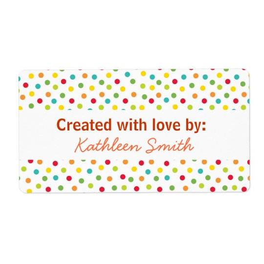 Candy Dots Recipe/Goodies Label