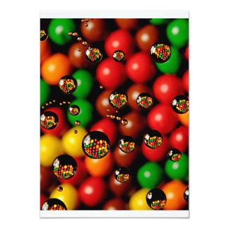 Candy Droplets Birthday 11 Cm X 16 Cm Invitation Card