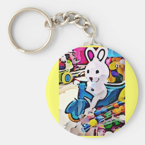 Candy Easter Bunny Keychain