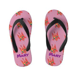 Candy Factory Custom Name Flip Flops Thongs